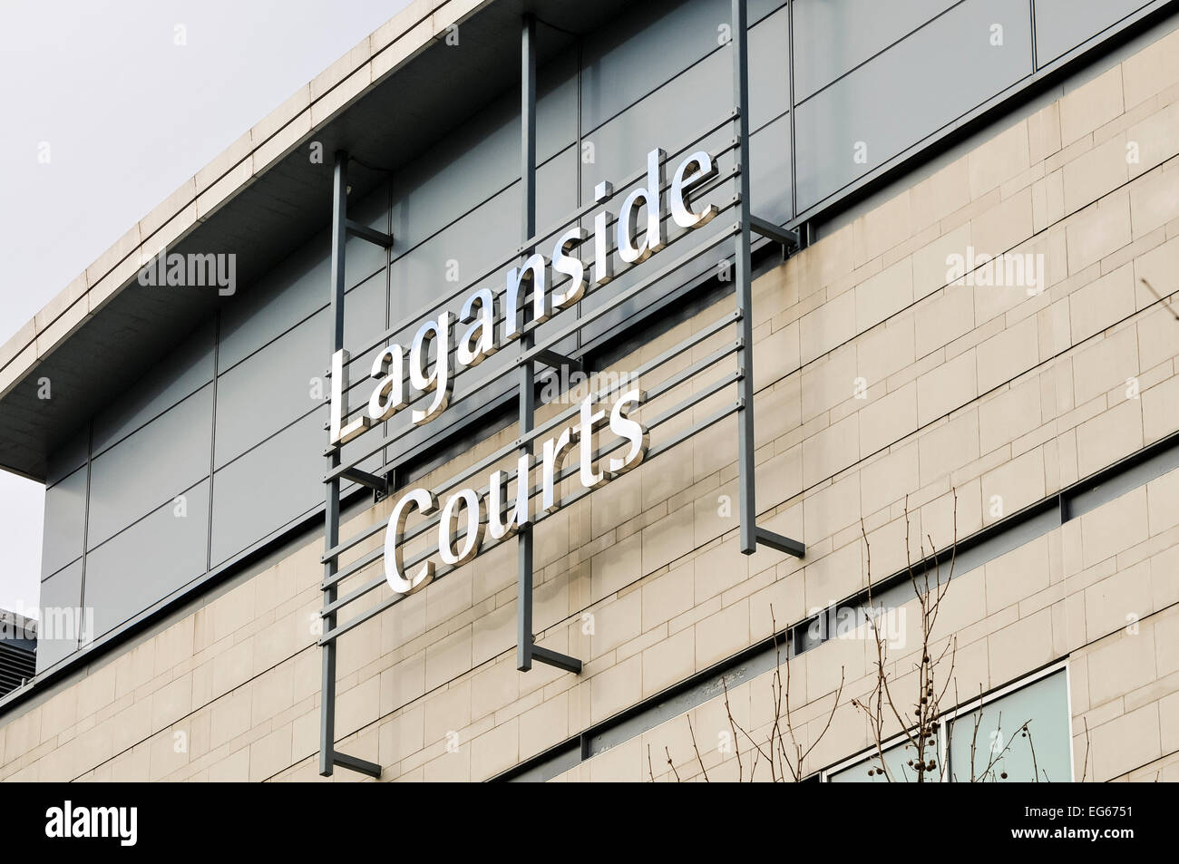 Laganside Courts, Belfast.  Crown and Magistrates courtrooms - Stock Image