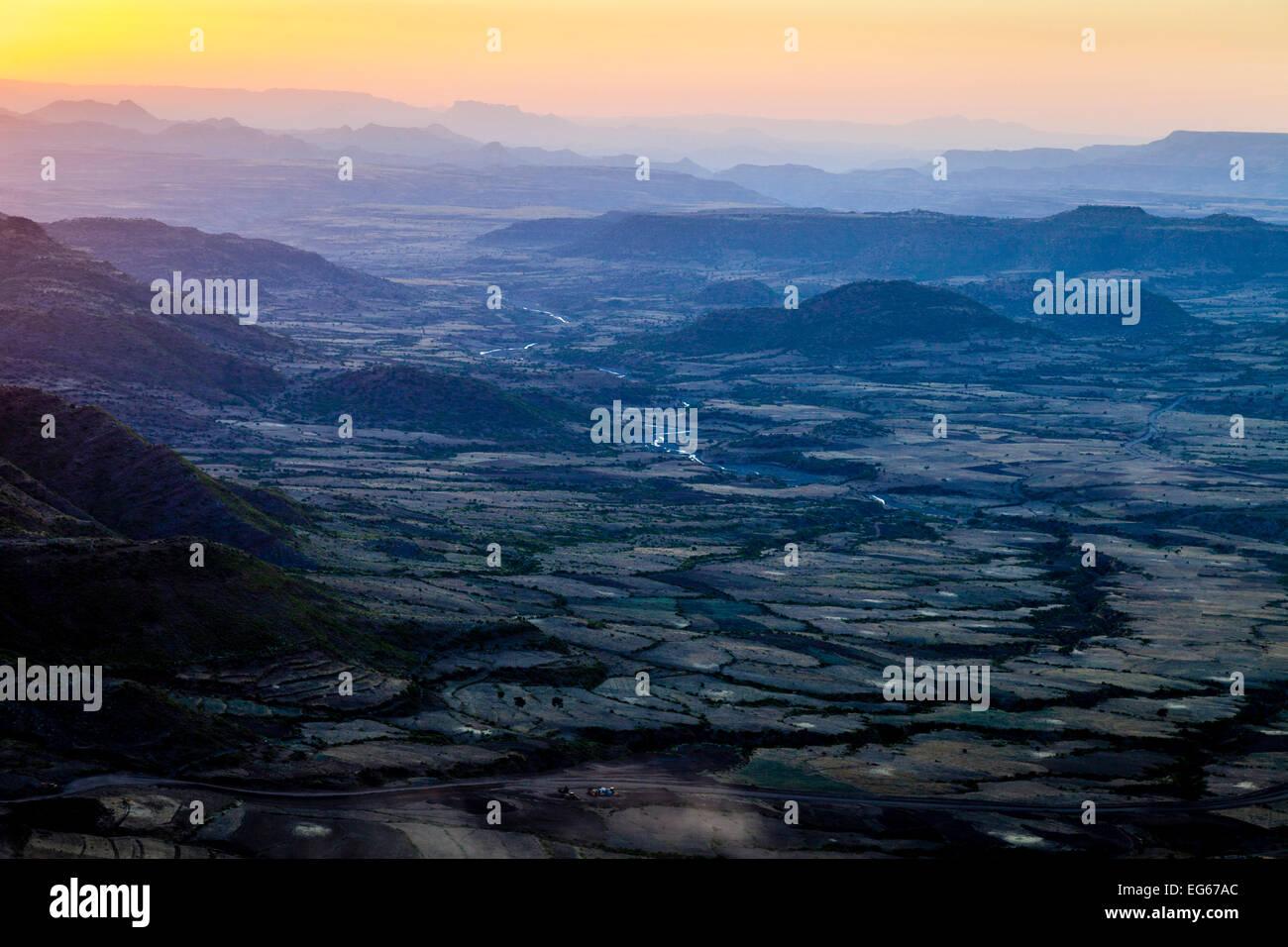 The Scenery Surrounding The Town Of Lalibela, Ethiopia - Stock Image