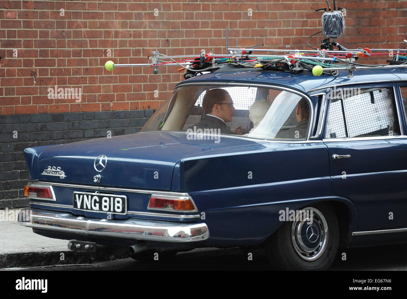 Filming Takes Place On The Set Of Upcoming Kray Twins Biopic Legend Stock Photo Alamy