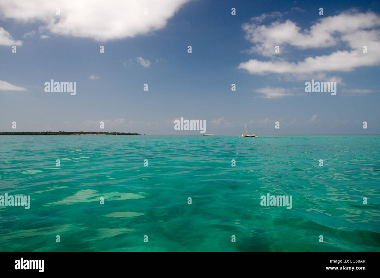 Island hopping in Zanzibar - Stock Image