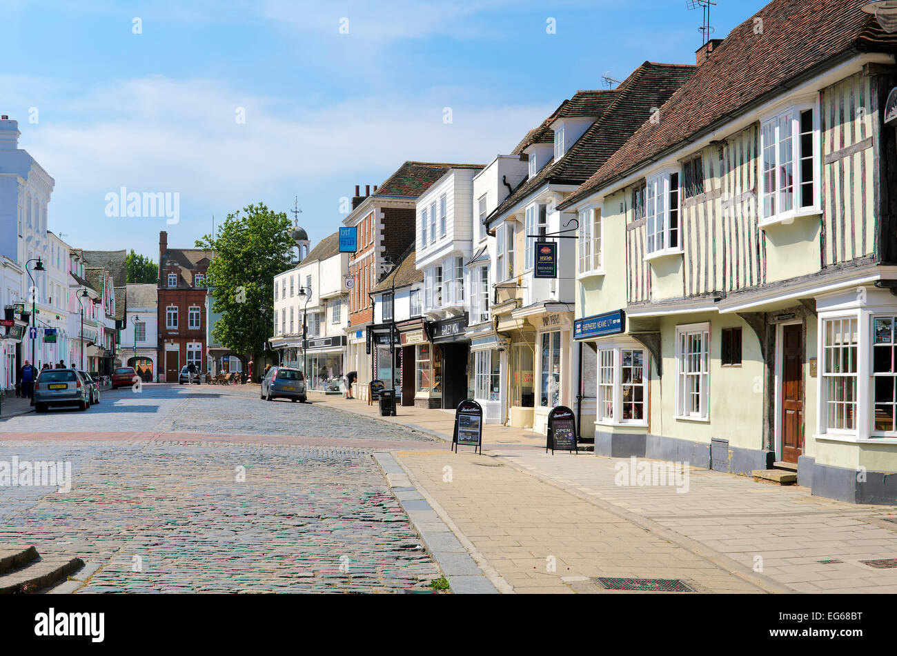 view along court street faversham in kent - Stock Image