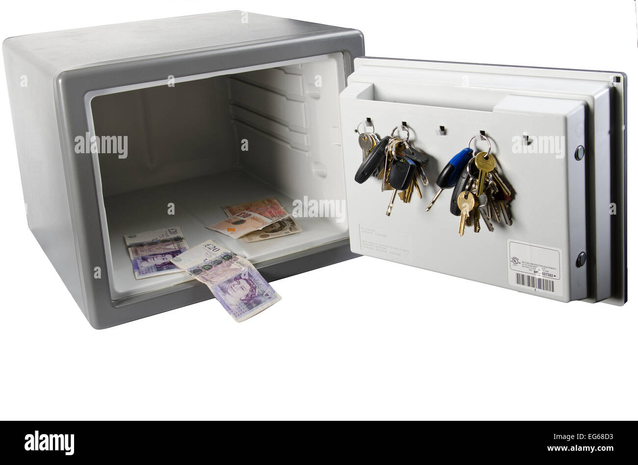 cut out image of combination safe - Stock Image
