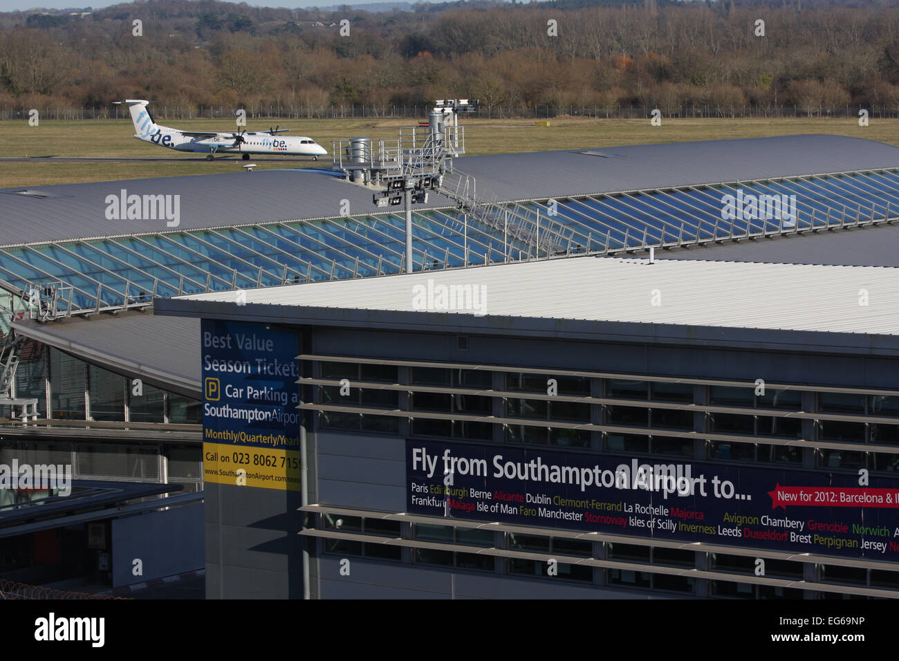SOUTHAMPTON AIRPORT UK - Stock Image