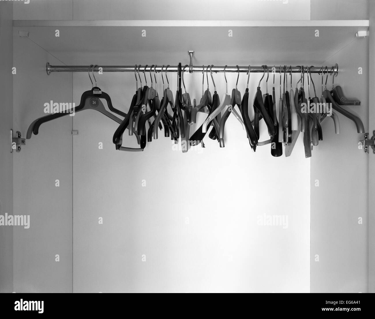 empty closet with hangers. Clothes Hangers In An Empty Closet With M