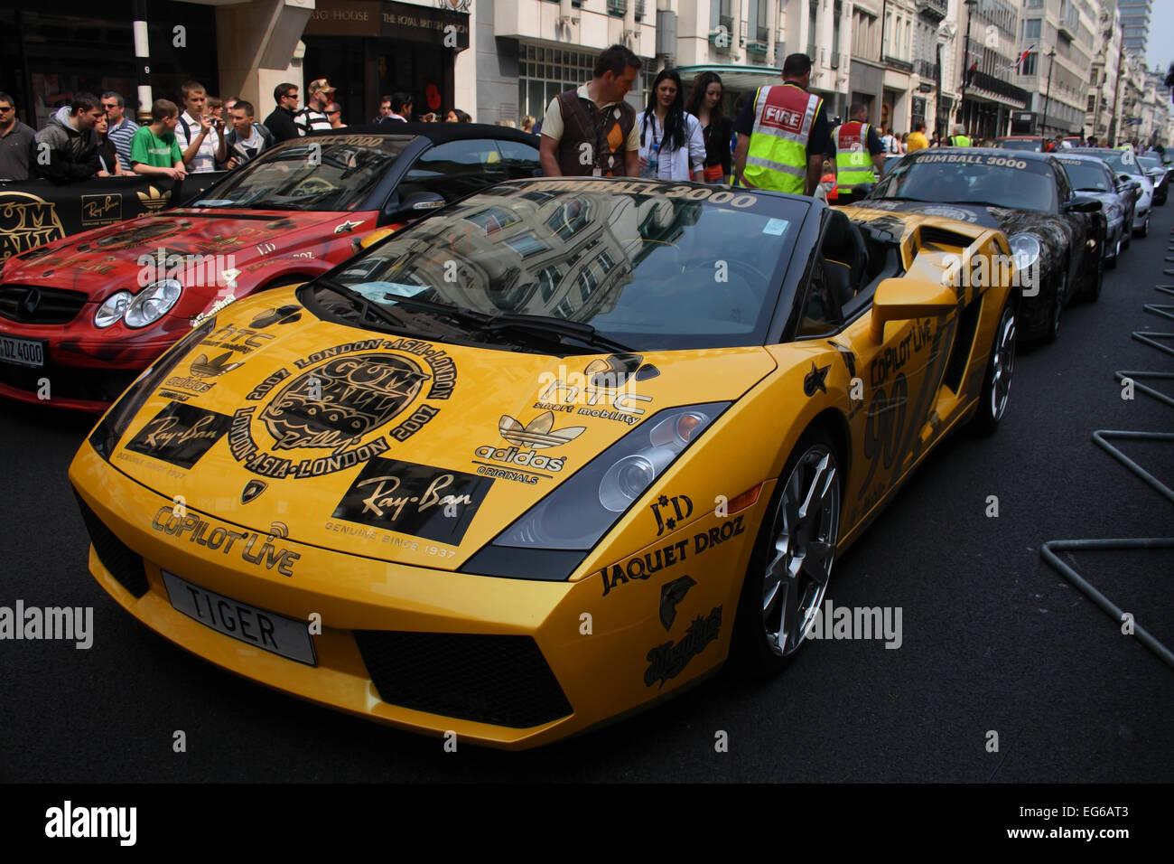 Lamborghini Gallardo Spider Team Tiger Drivers Peter Billung, Christian  Coada At Gumball Rally 2007 Pall