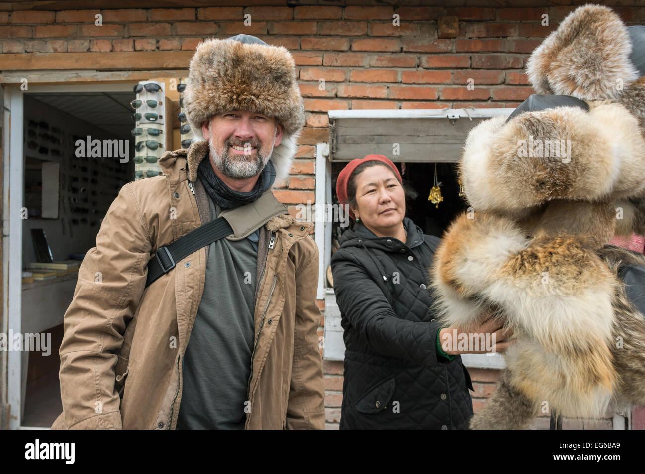 515a8d6bb52 Fur Hat Stock Photos   Fur Hat Stock Images - Alamy
