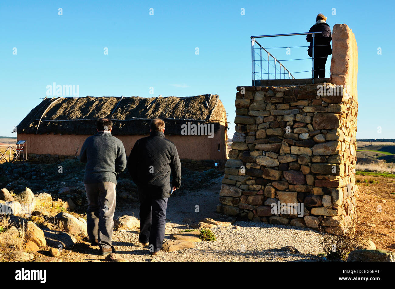 numancia archaeological site in garray, soria, spain - Stock Image