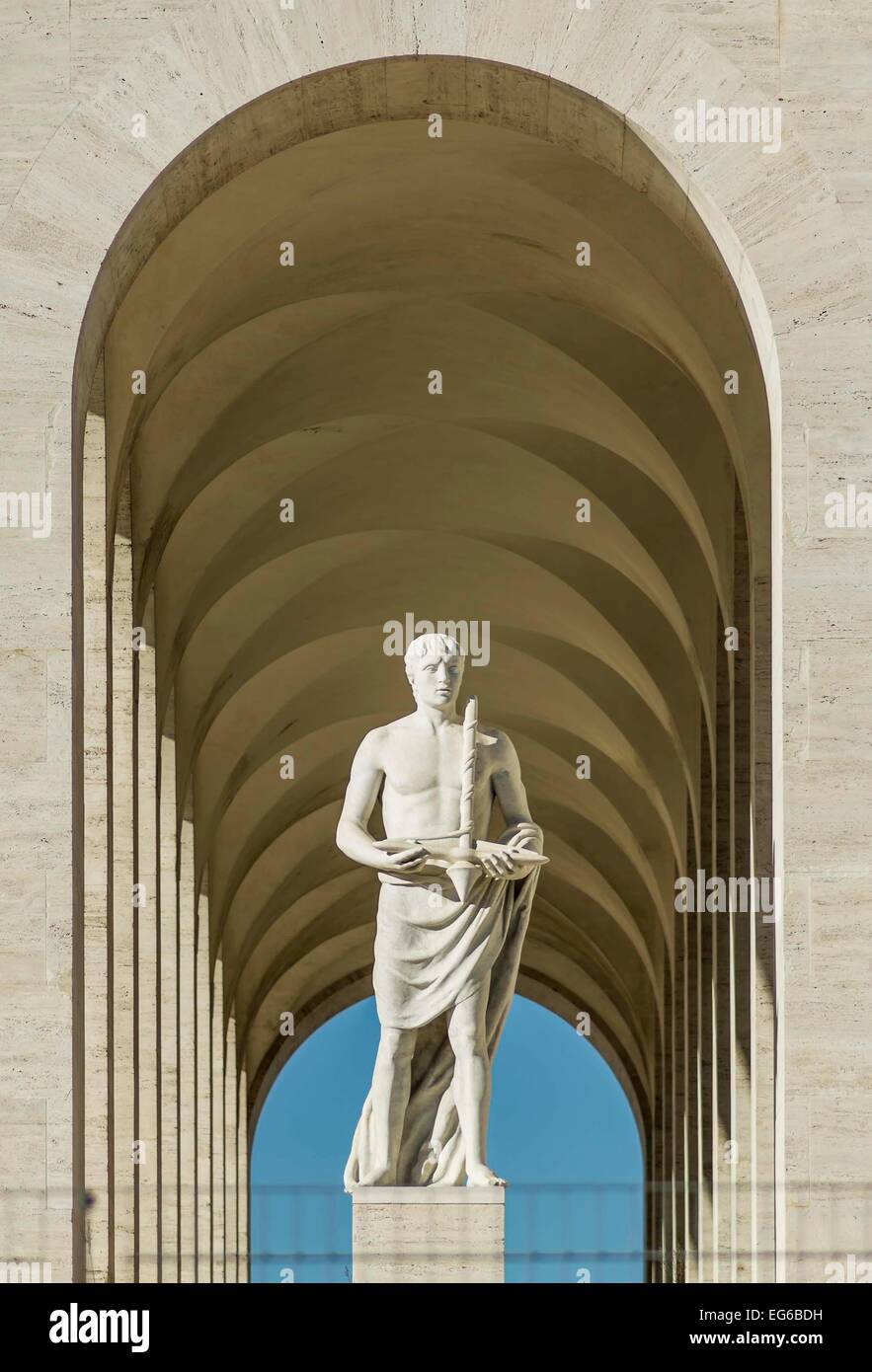 rome eur palace decoration - Stock Image