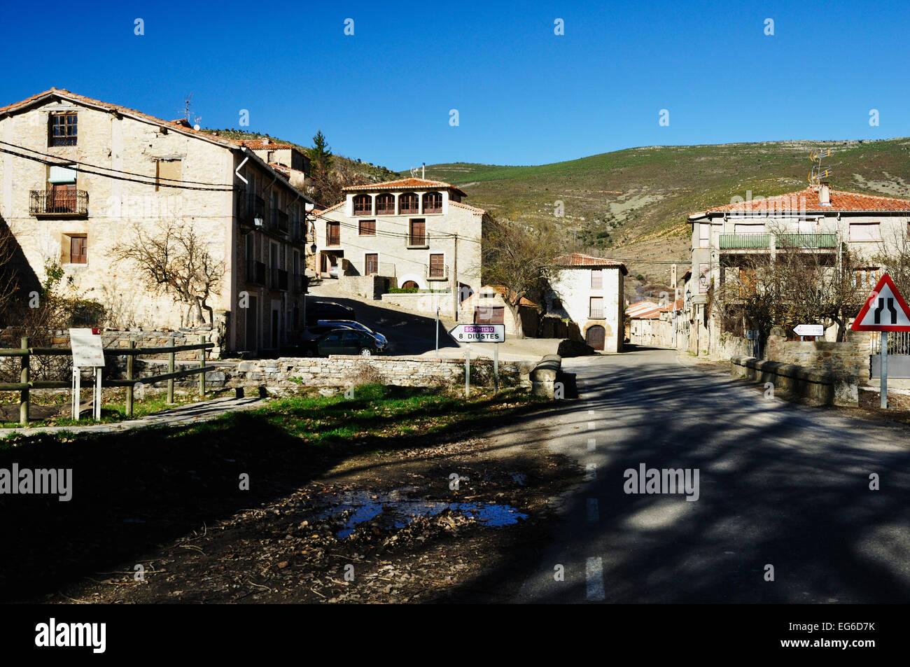 Yanguas small town of Soria. Castilla y León, Spain - Stock Image