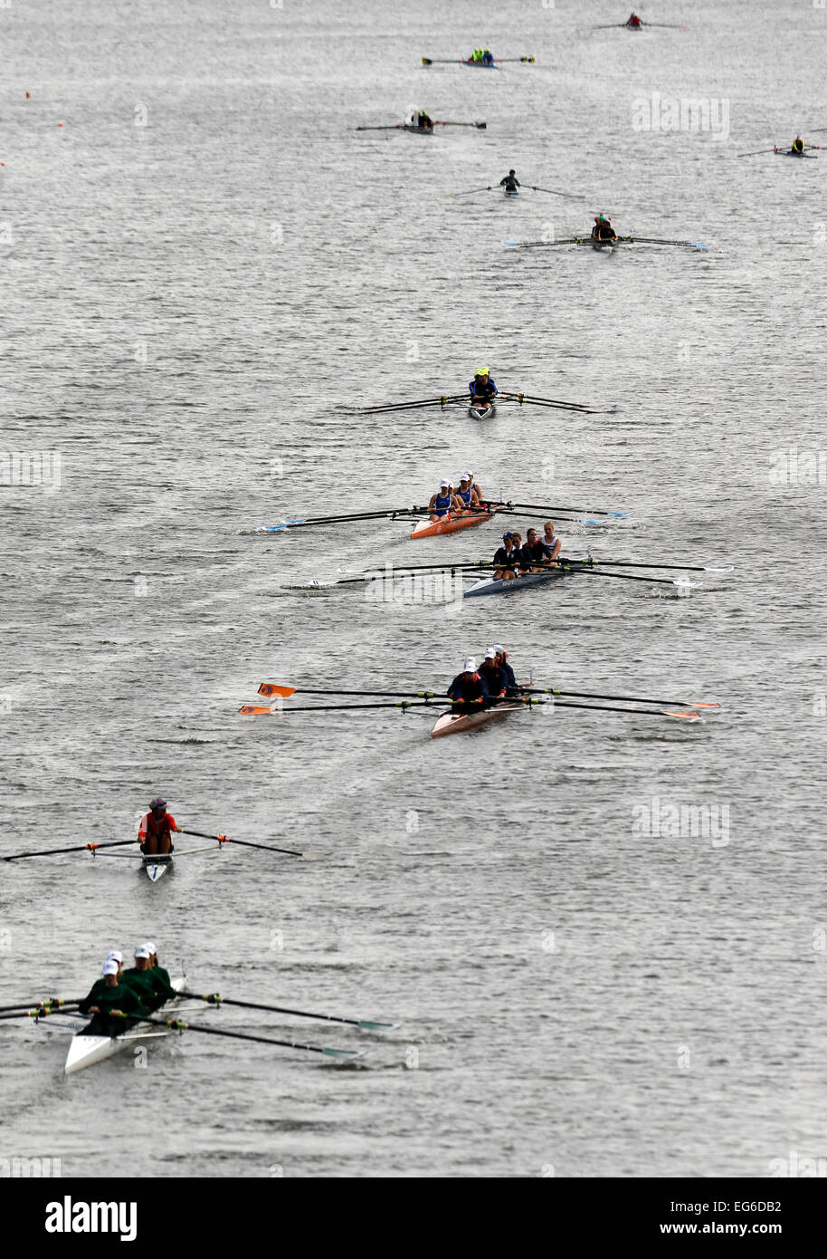 Head of the Charles Regatta - Stock Image