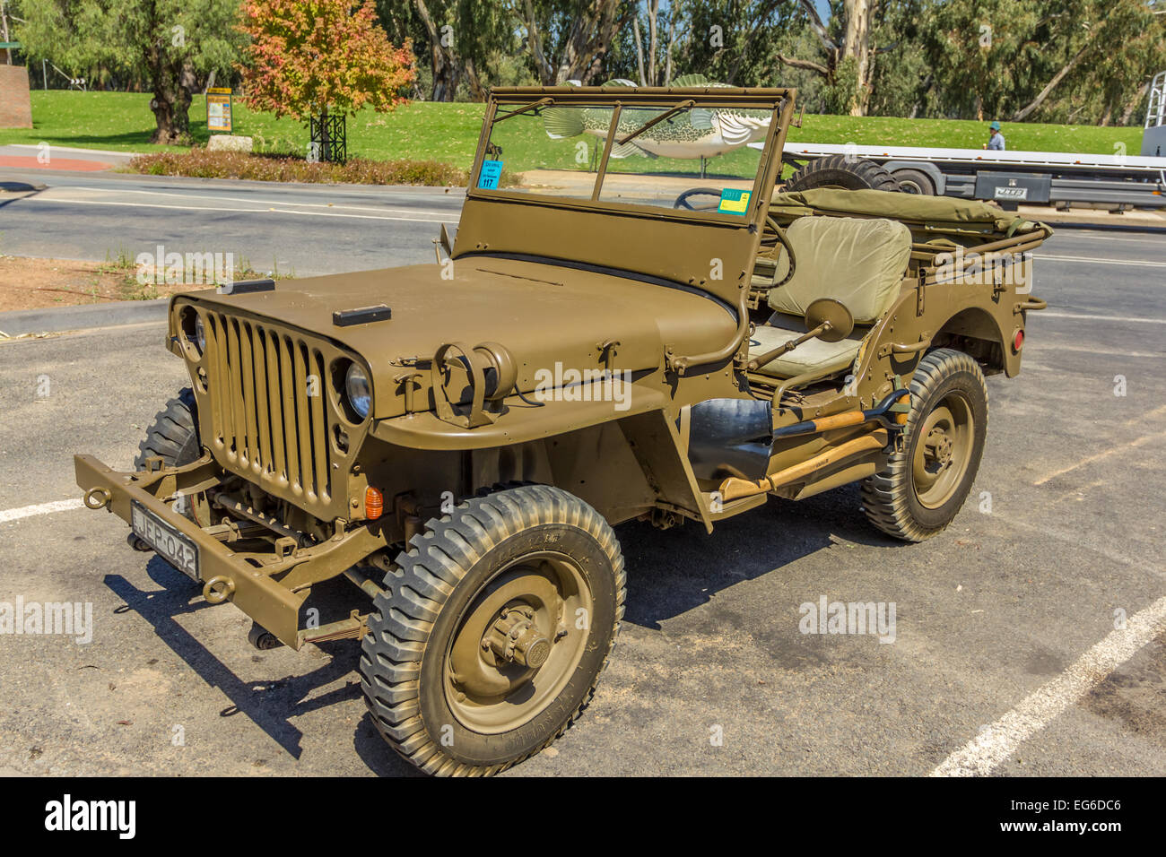 Iconic Army Jeep Stock Photos Images Alamy Willys Jeeps On Filter Box Ww2 Restored Image