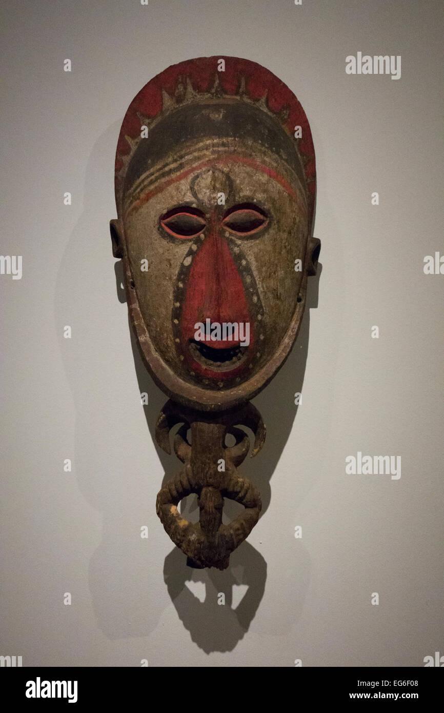 Mask; East Sepik Province; Papua New Guinea (c. 1950) ;LACMA; Los Angeles; California; United States - Stock Image