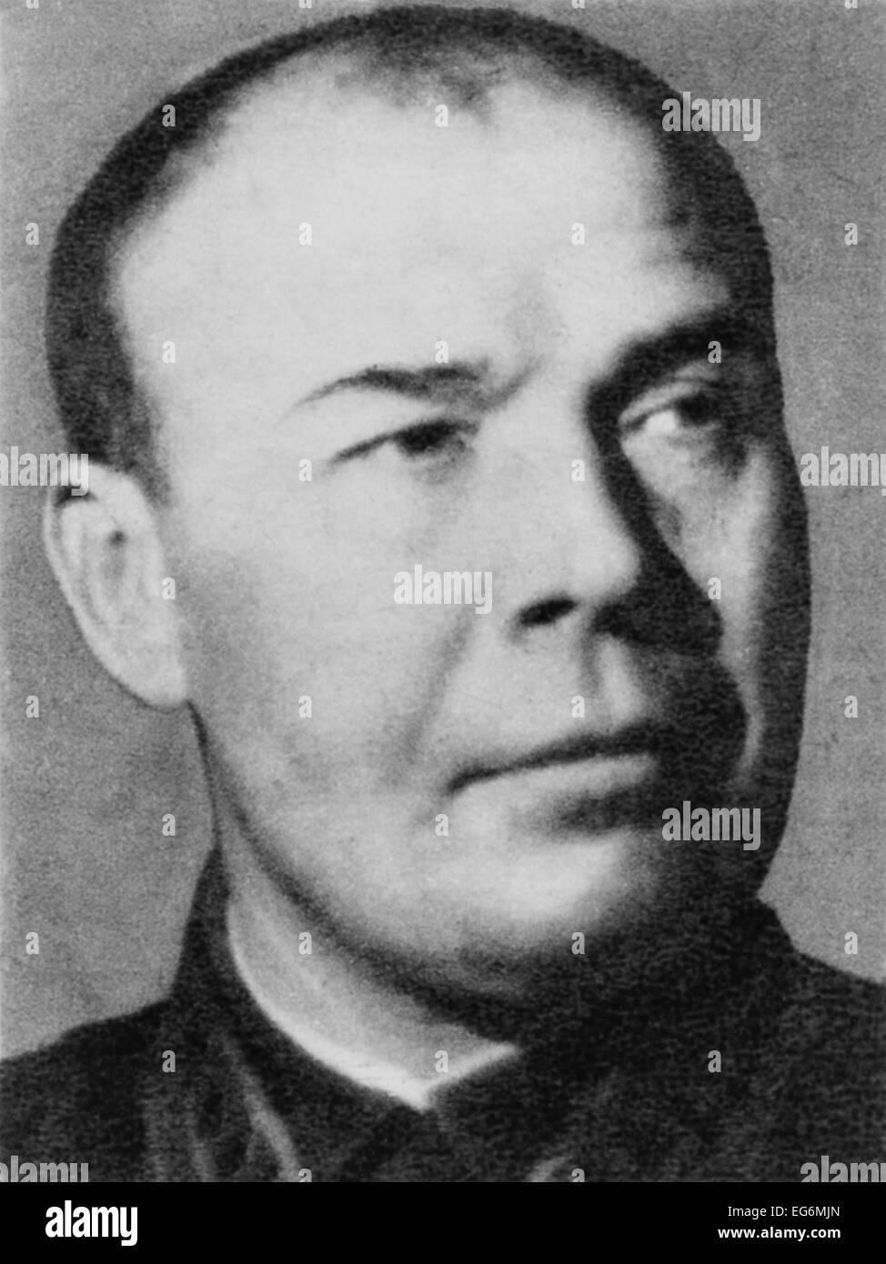 Soviet General Semyon Konstantinovich Timoshenko. Timoshenko lead Soviet armies in the Soviet-Finnish War and in - Stock Image