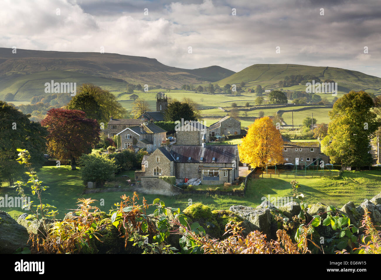 Hebden village Wharfdale in The Yorkshire Dales, England. - Stock Image