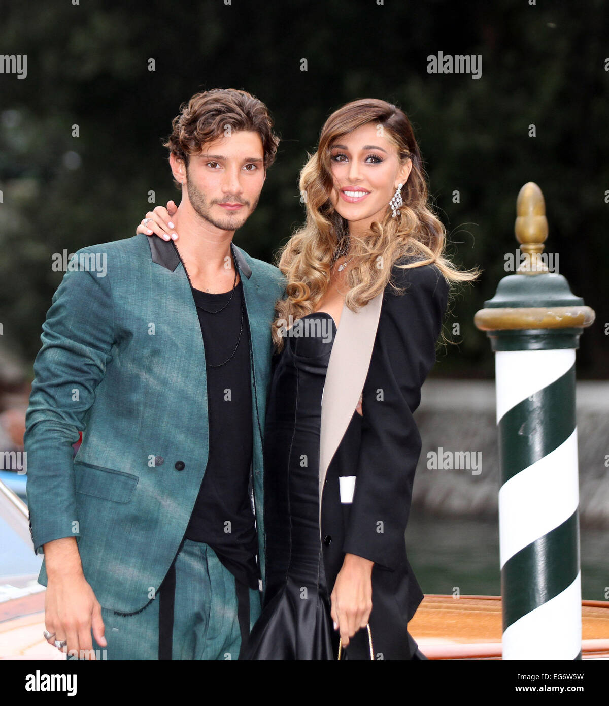 Italy Venice Argentinian Model Belen Rodriguez And Stefano De Stock Photo Alamy