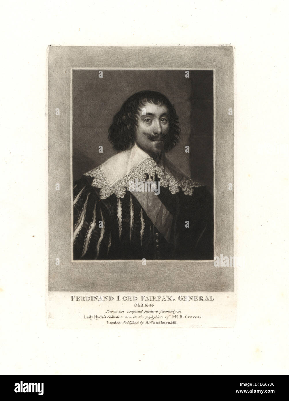 Ferdinando Fairfax, 2nd Lord Fairfax of Cameron, General in the Parliamentary army in the English Civil War, died - Stock Image