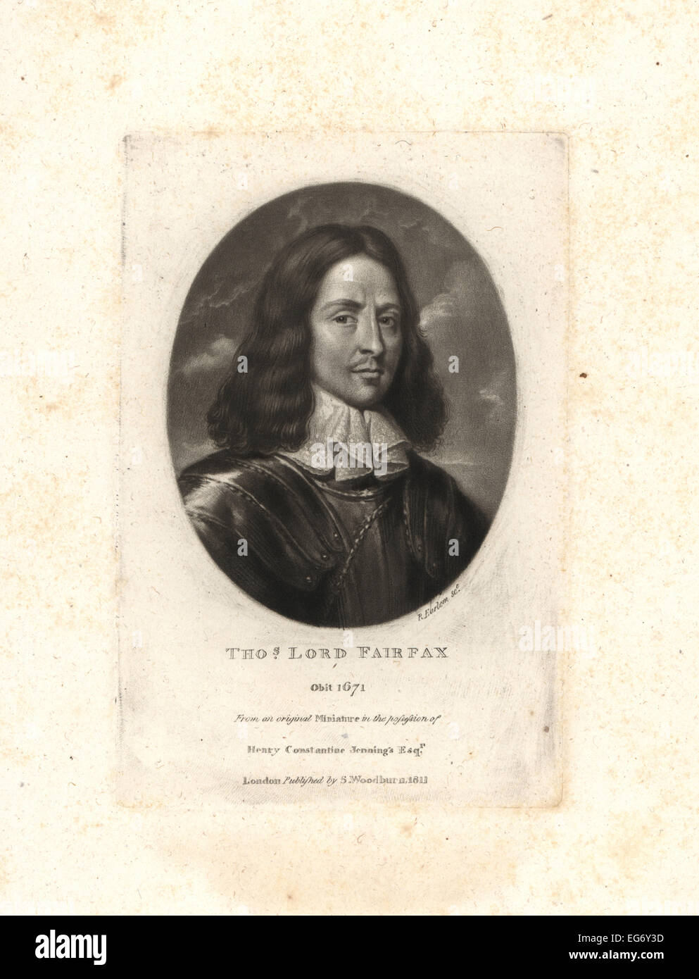Thomas Fairfax, 3rd Lord Fairfax of Cameron, Parliamentary general in the English Civil War, died 1671. - Stock Image