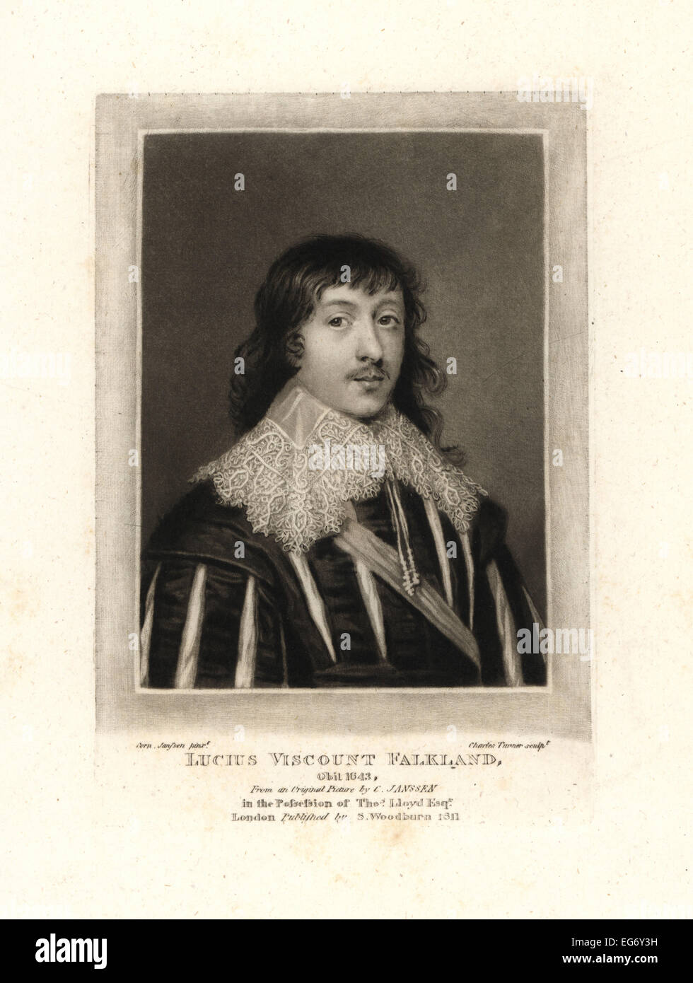Lucius Cary, 2nd Viscount Falkland, Royalist politician and writer, died 1643. - Stock Image