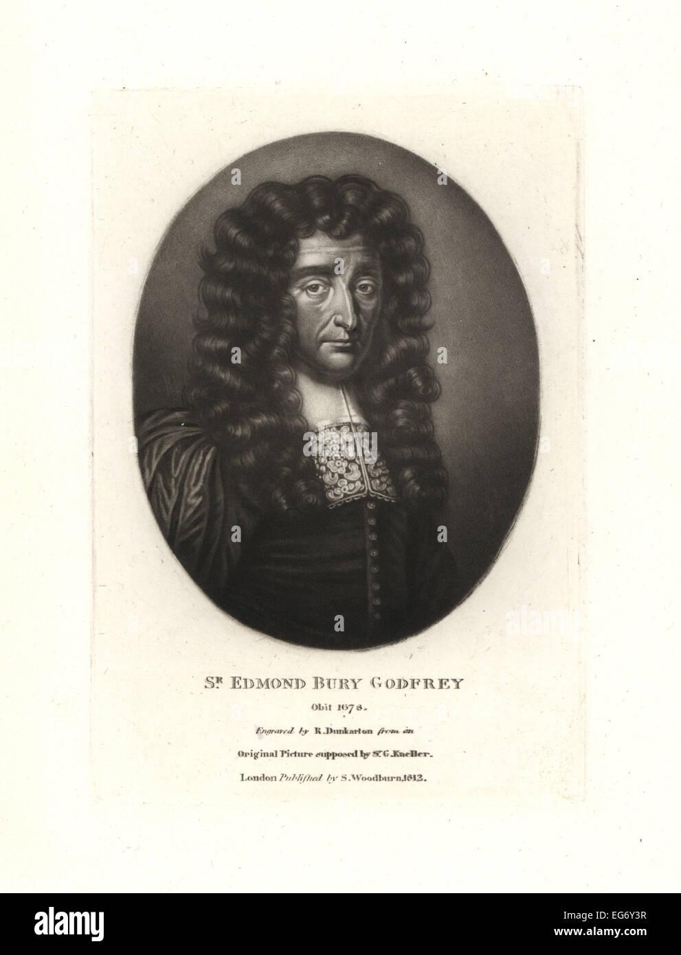 Sir Edmond Bury Godfrey, English magistrate, murdered 1678. - Stock Image