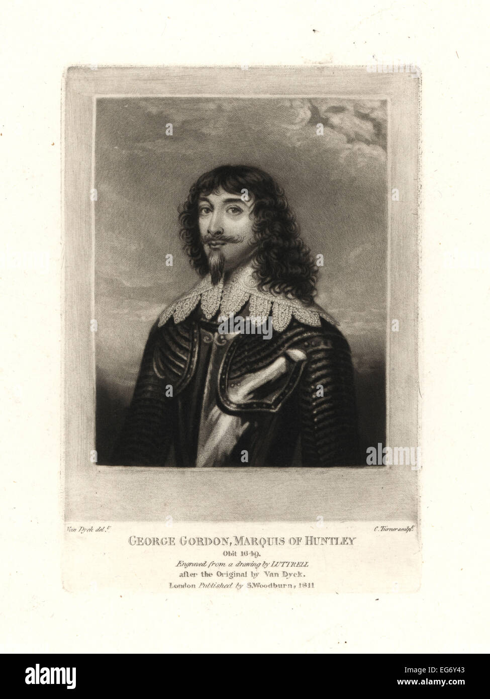 George Gordon, 2nd Marquess of Huntly, died 1649. - Stock Image
