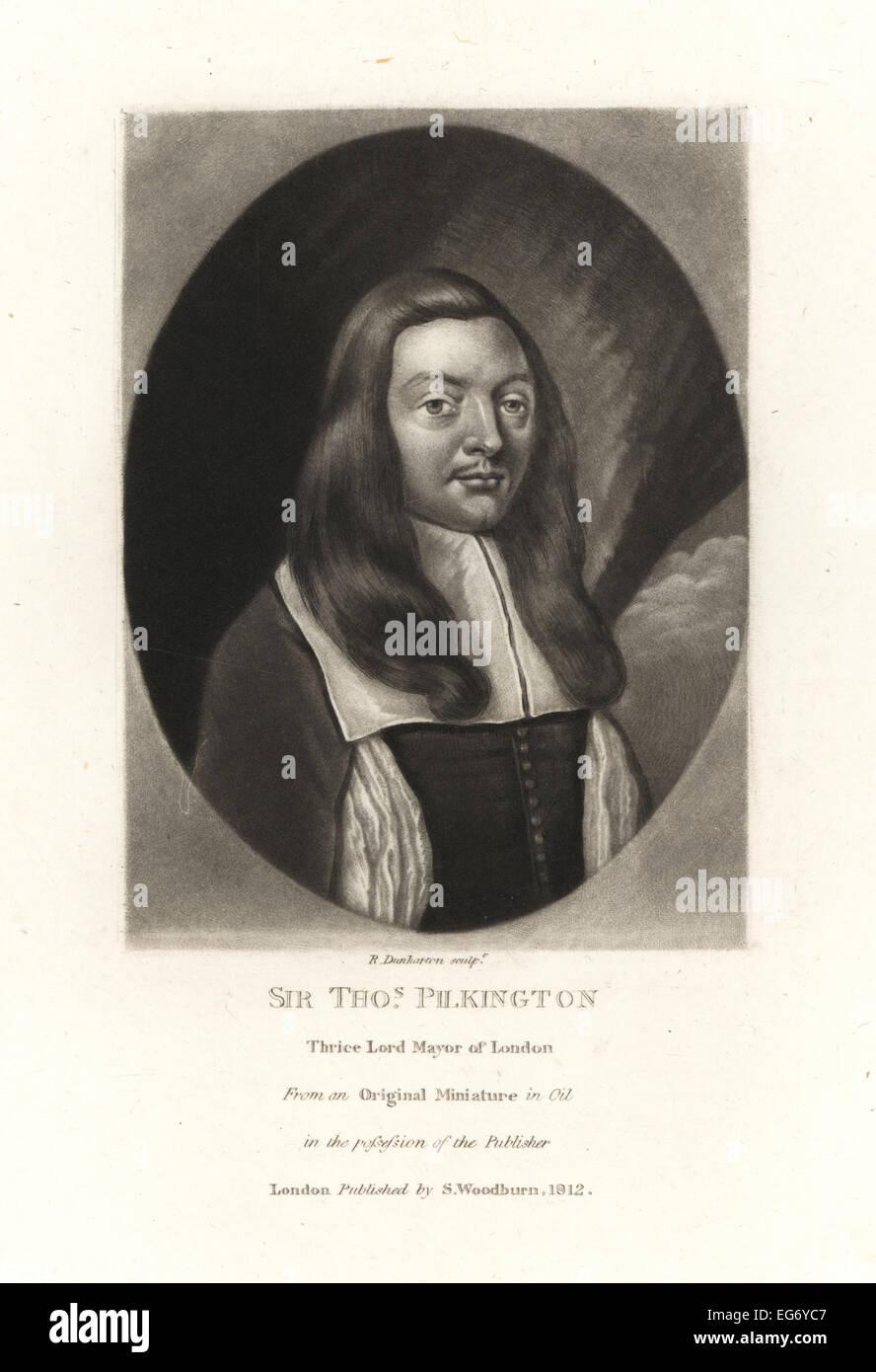 Sir Thomas Pilkington, Lord Mayor of London, died 1691. - Stock Image