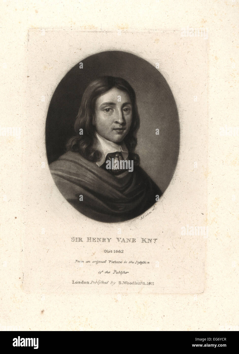Sir Henry Vane the Younger, English politician, statesman, and colonial governor, died 1662. - Stock Image