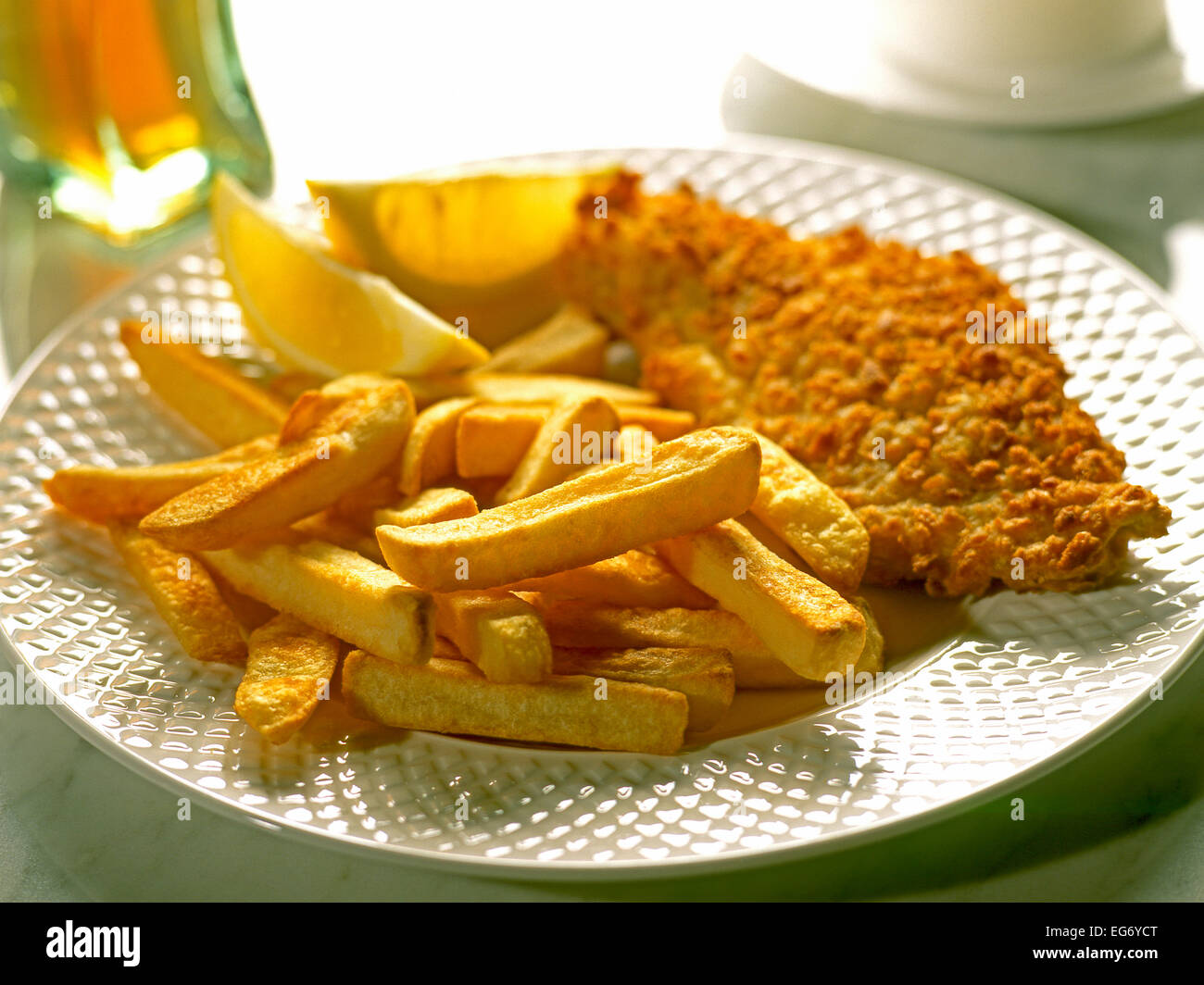 FISH AND CHIPS  OR CHIPS AND FISH - Stock Image