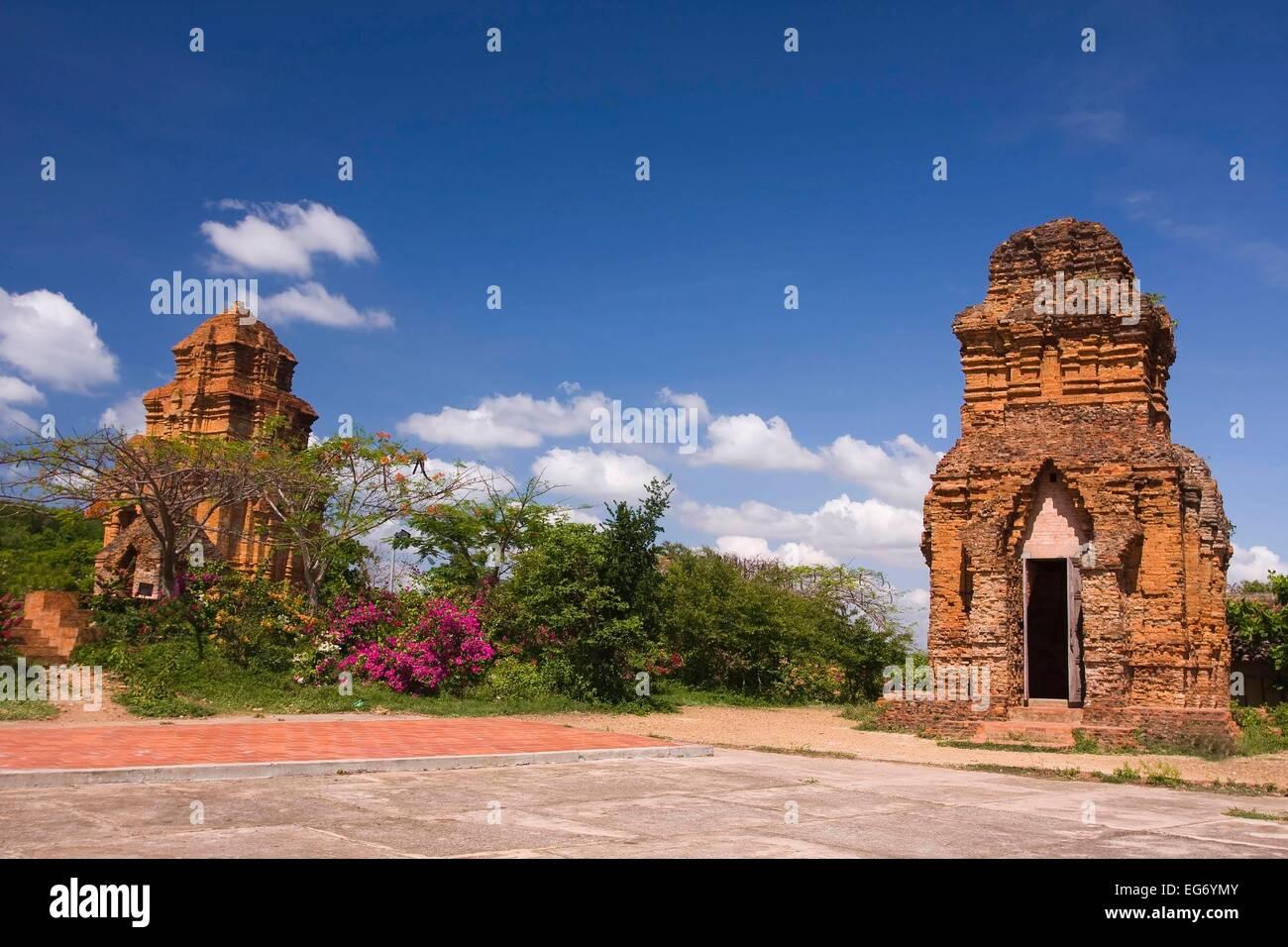 Po Shanu Cham owers, sanctuary, temple complex, Mui Ne, Phan Thiet, Vietnam - Stock Image