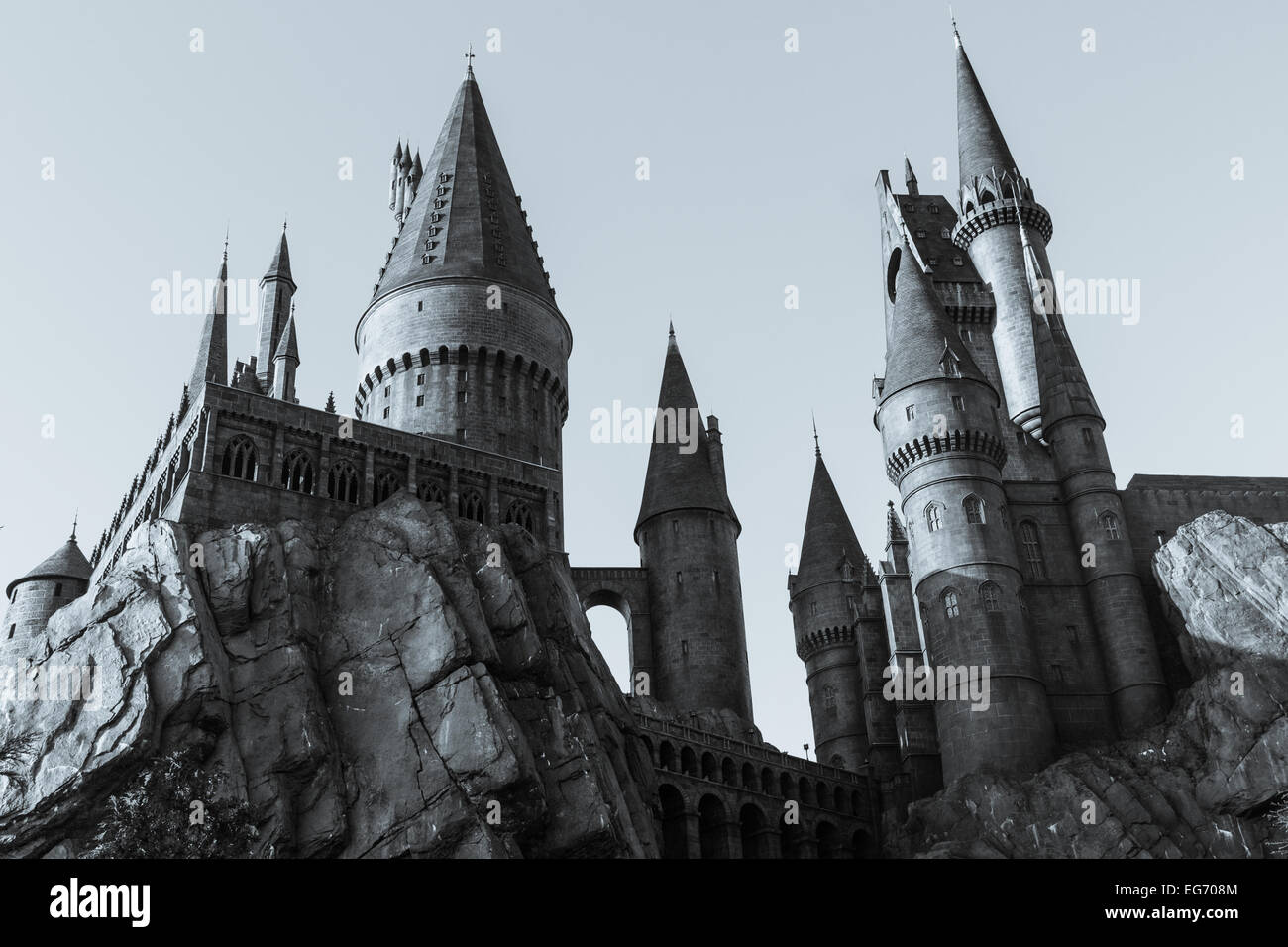 Views of the Wizarding World of Harry Potter attraction at Universal Studios in Florida. - Stock Image