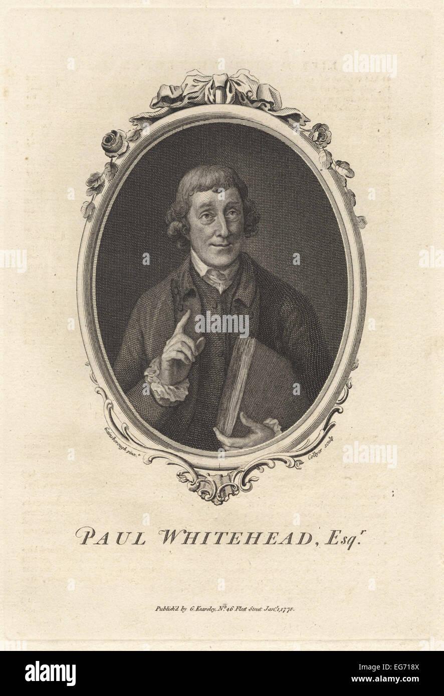 Portrait of Paul Whitehead, 1710–1774, British satirist and secretary to the Hellfire Club. Stock Photo