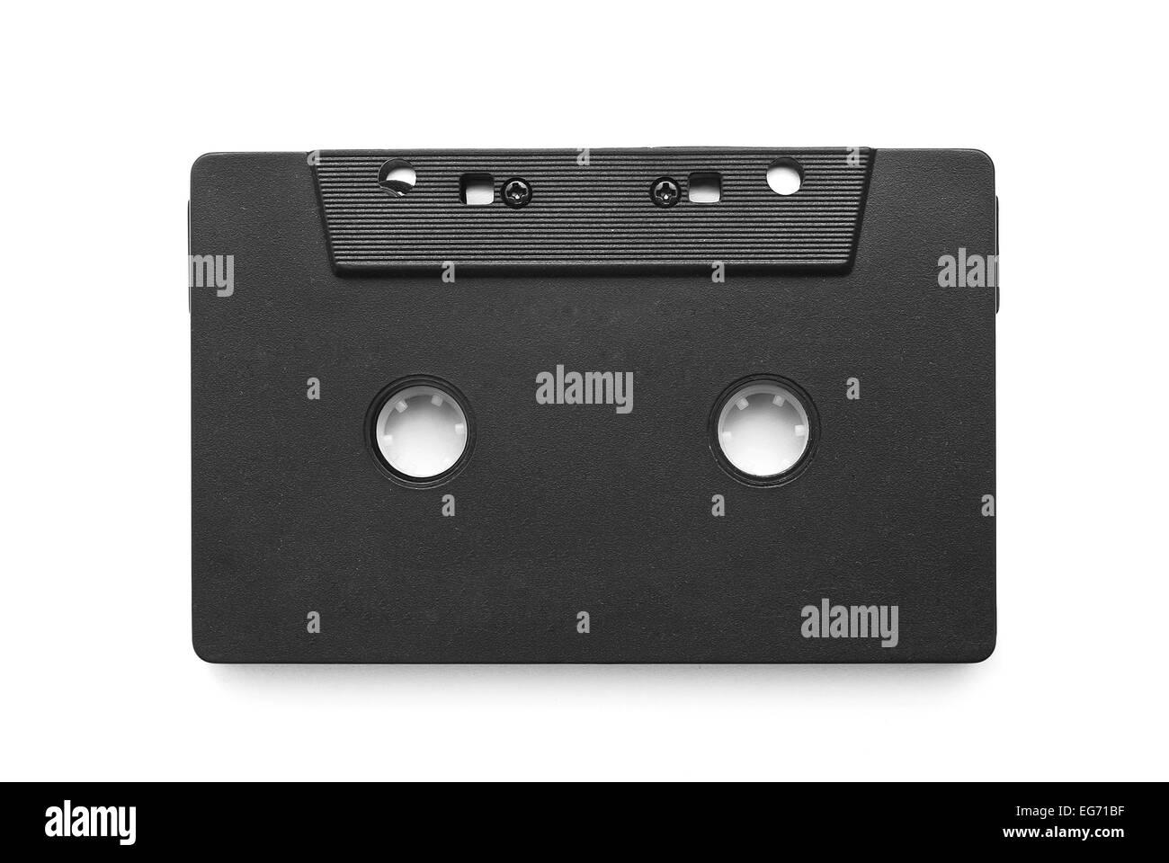 audio cassette tape on white - Stock Image