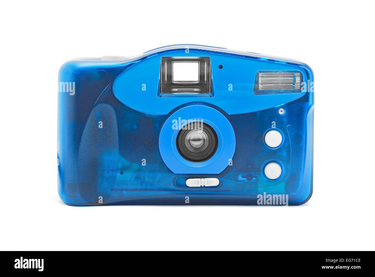 photo camera on film on white - Stock Image