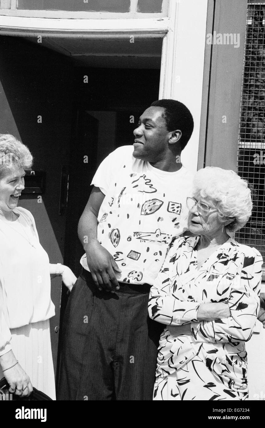 A Young Lenny Henry At A Drugs Awareness Programme In South London Stock Photo Alamy