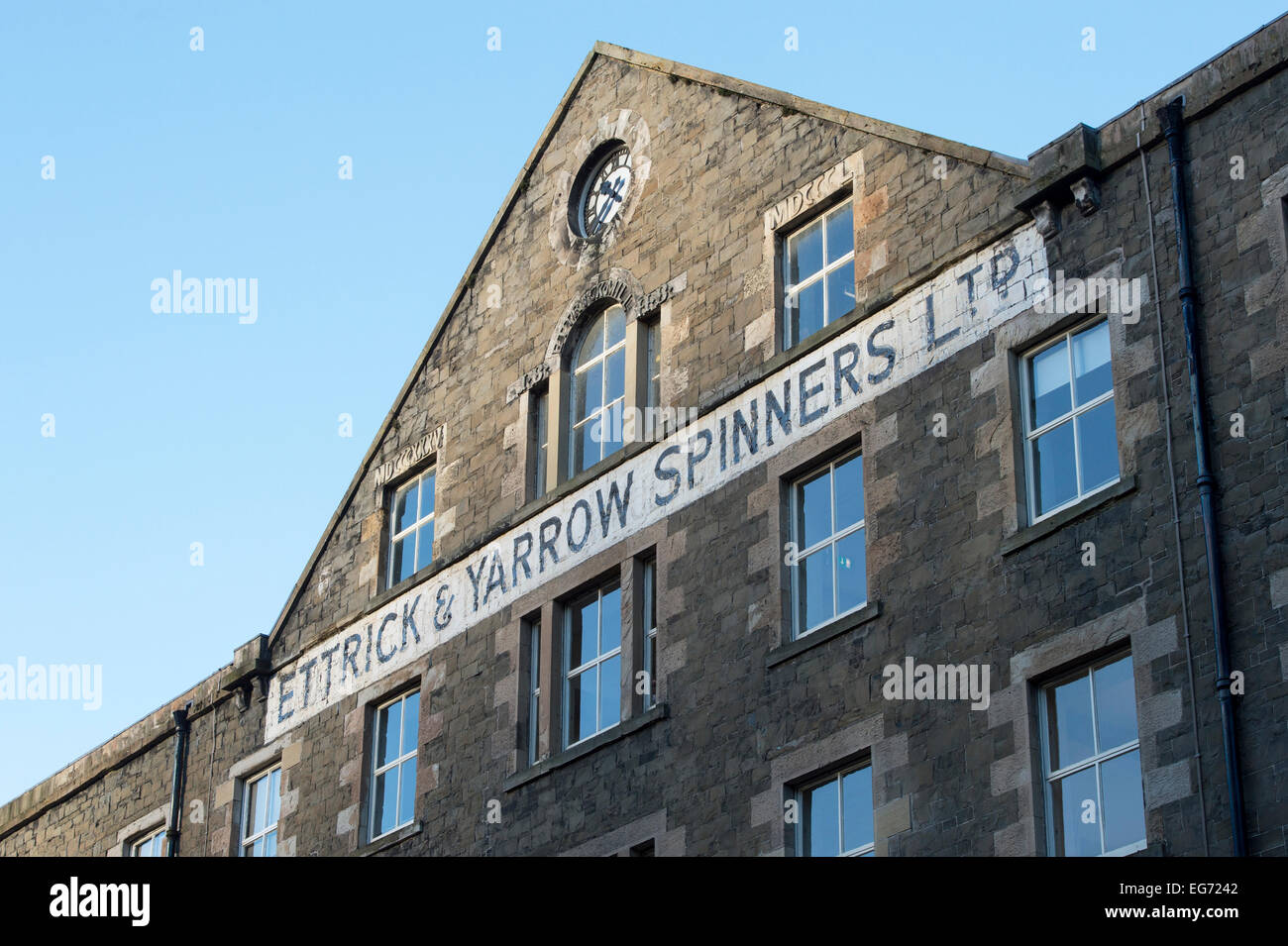 Former Ettrick and Yarrow spinners mill in Selkirk, Scottish Borders, Scotland - Stock Image