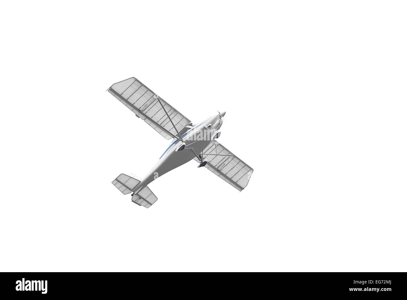 airplane isolated on white - Stock Image
