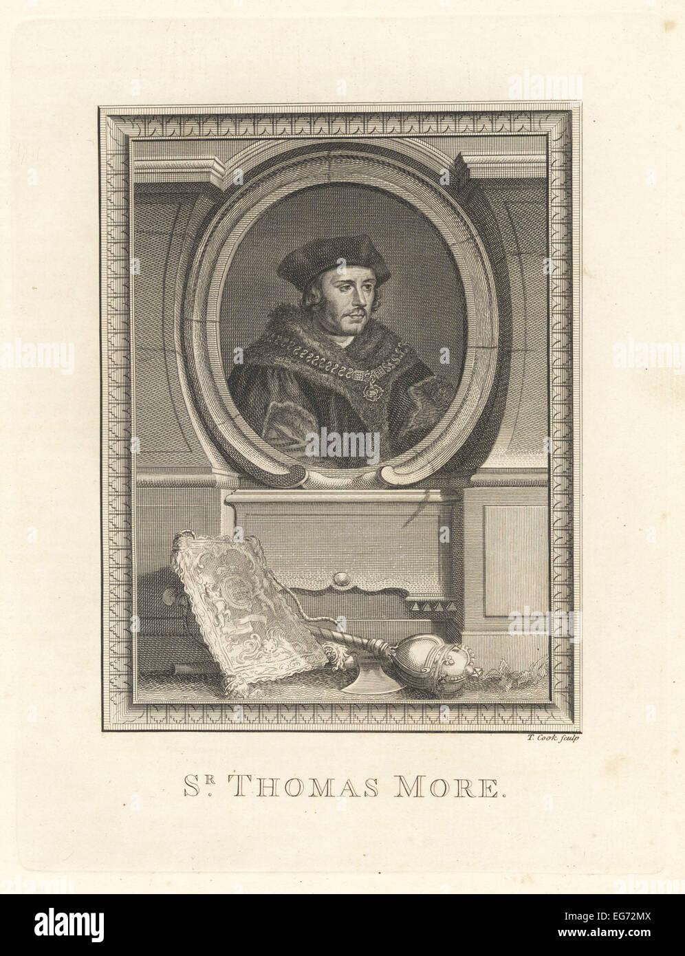 Sir Thomas More, statesman and philosopher, era of King Henry VIII, 1478-1535. - Stock Image