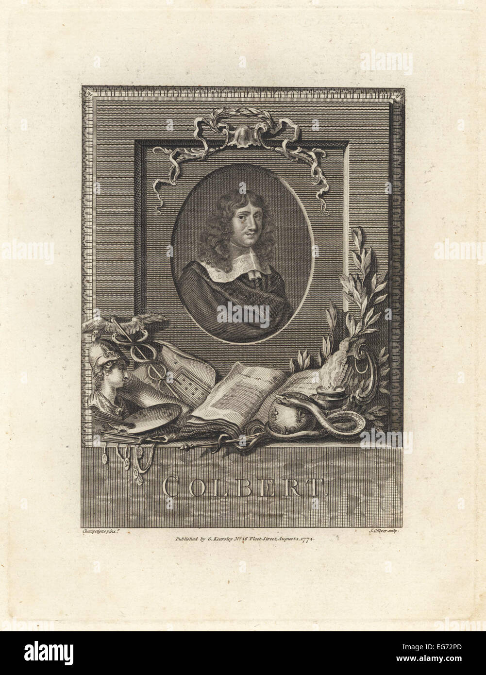 Jean Baptiste Colbert, statesman, minister to King Louis XIV. - Stock Image