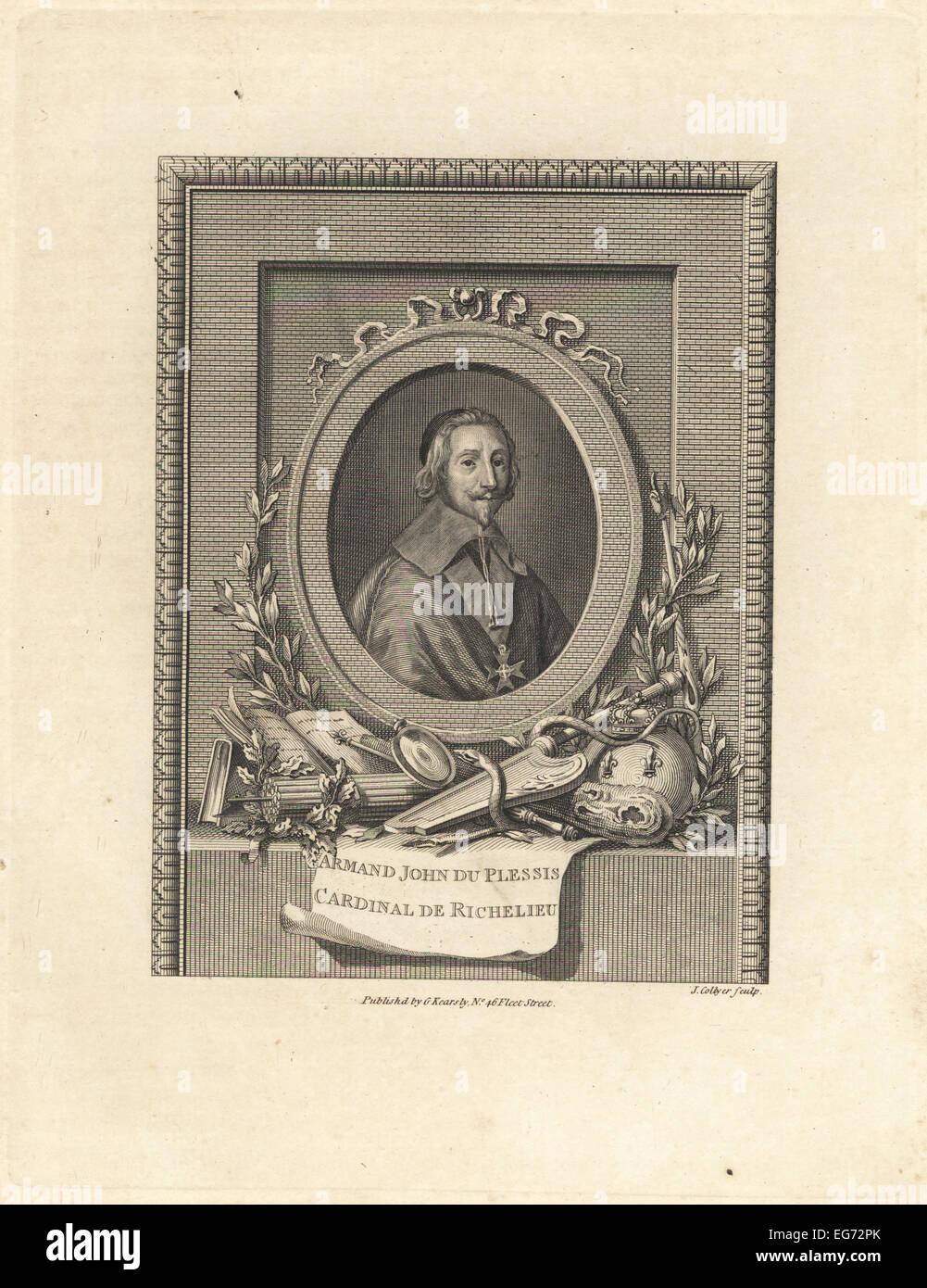 Cardinal de Richelieu, Armand Jean du Plessis, French clergyman, noble and statesman. - Stock Image