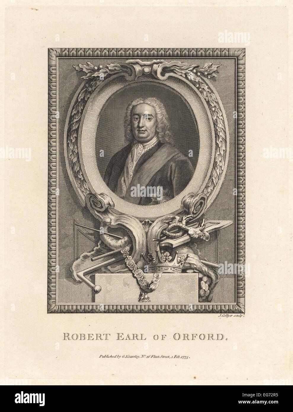 Sir Robert Walpole, 1st Earl of Orford, British statesman, 1676-1745. - Stock Image