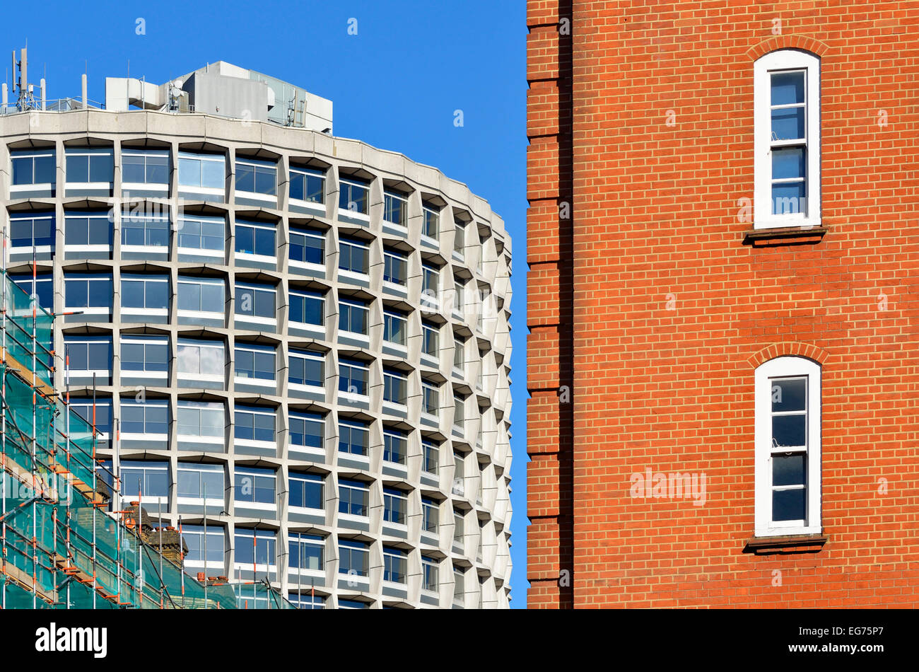 London, England, UK. One Kemble Street (WC2B 4AN) or 'Space House' (arch: R Seifert & Partners; 1966) - Stock Image