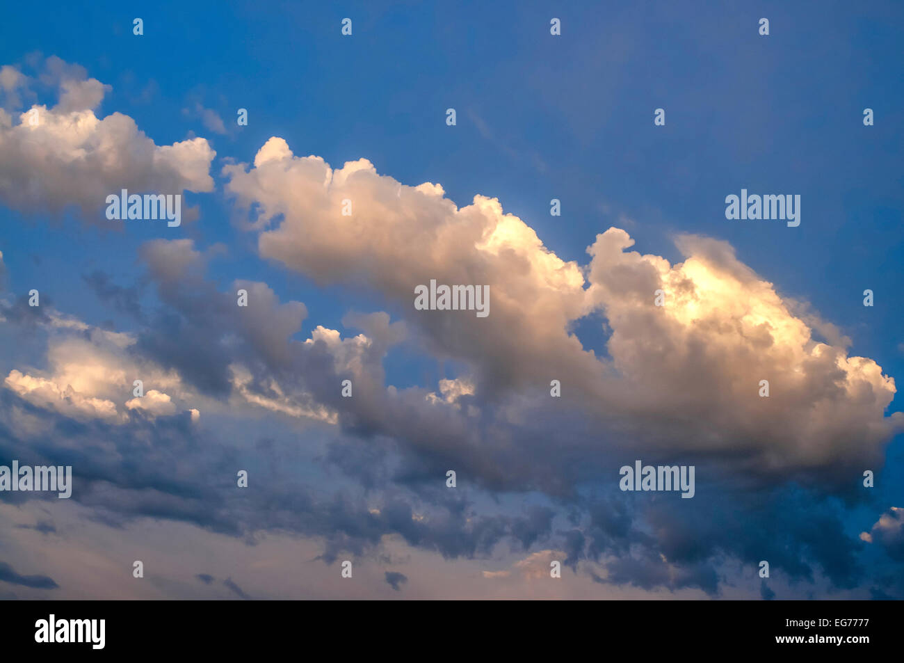 Skyscape with storm clouds brewing - France. - Stock Image
