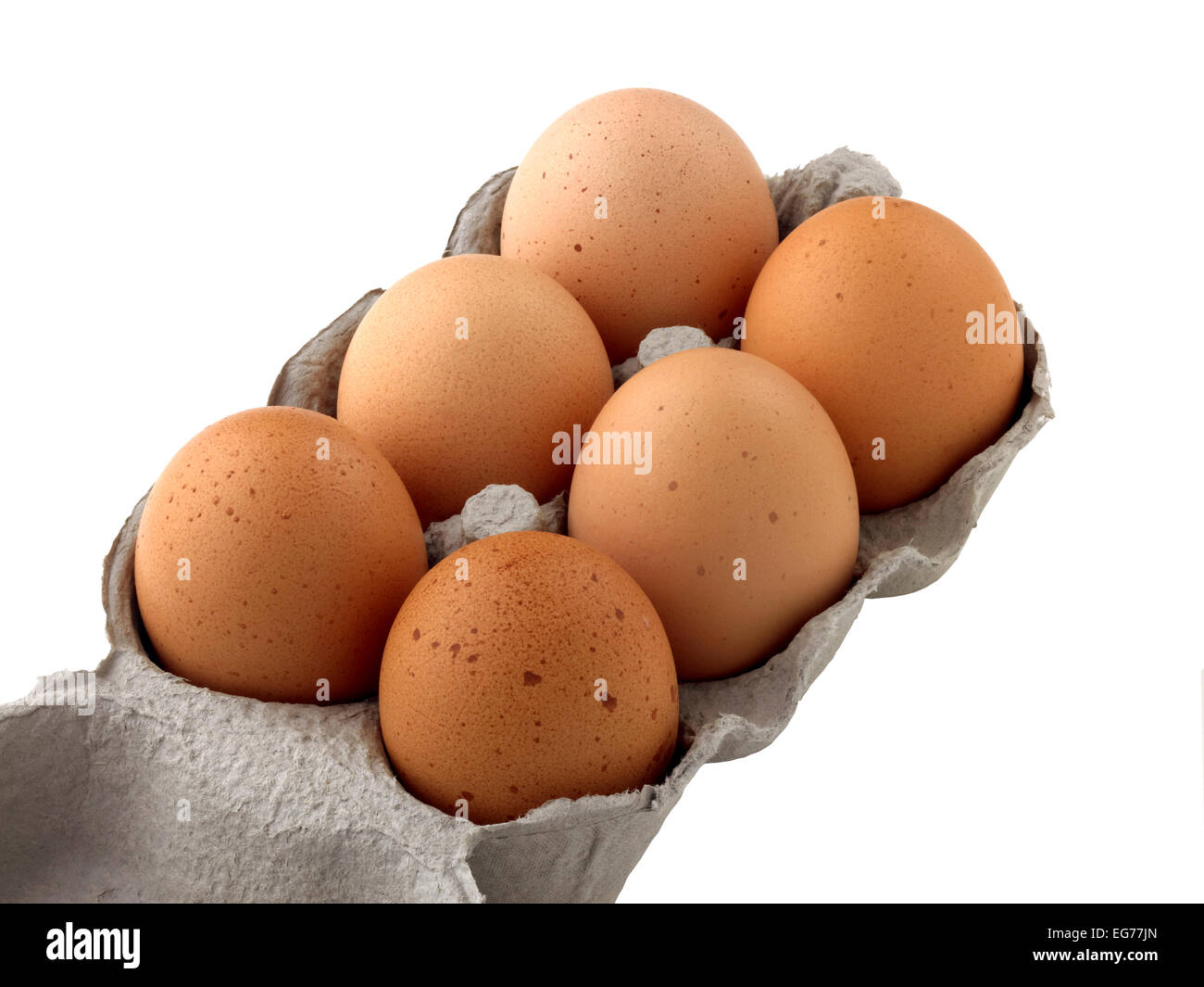 six eggs - Stock Image