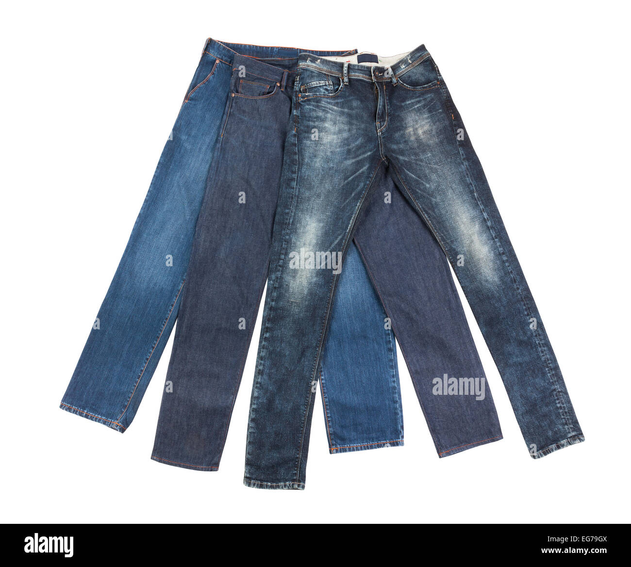 denim jeans isolated - Stock Image