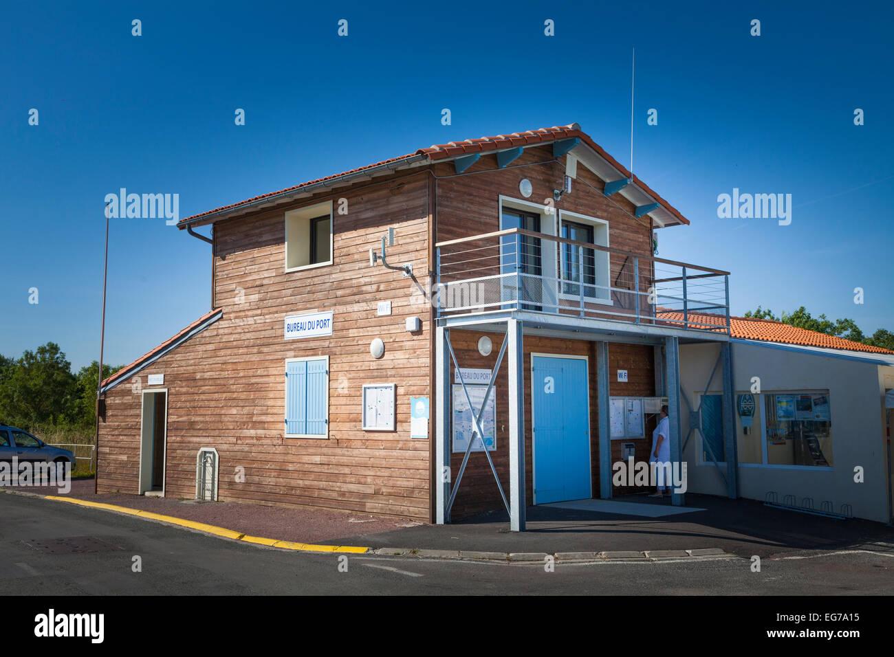 Bureau du Port harbour masters building at Meschers-sur-gironde - Stock Image