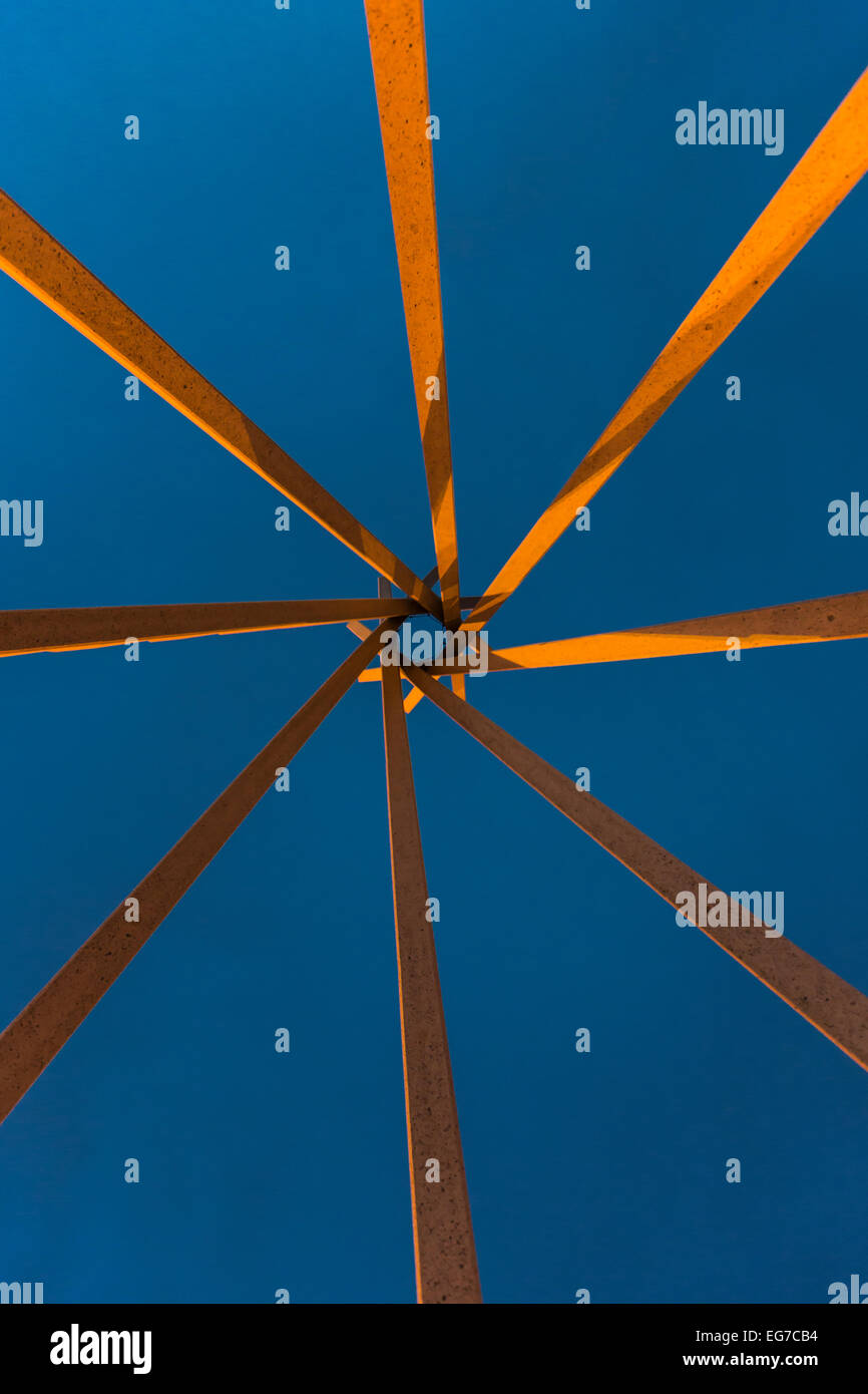 Plains Indian tipi motif for a structure in a South Dakota rest area, designed in the late 1960s by architect Ward Stock Photo