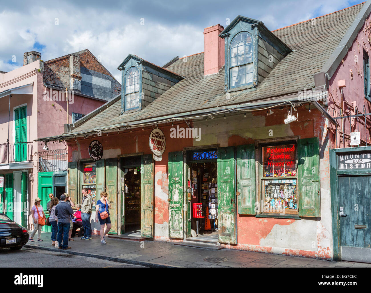 Reverend Zombie's House of Voodoo, St Peter Street, French Quarter, New Orleans, Louisiana, USA - Stock Image