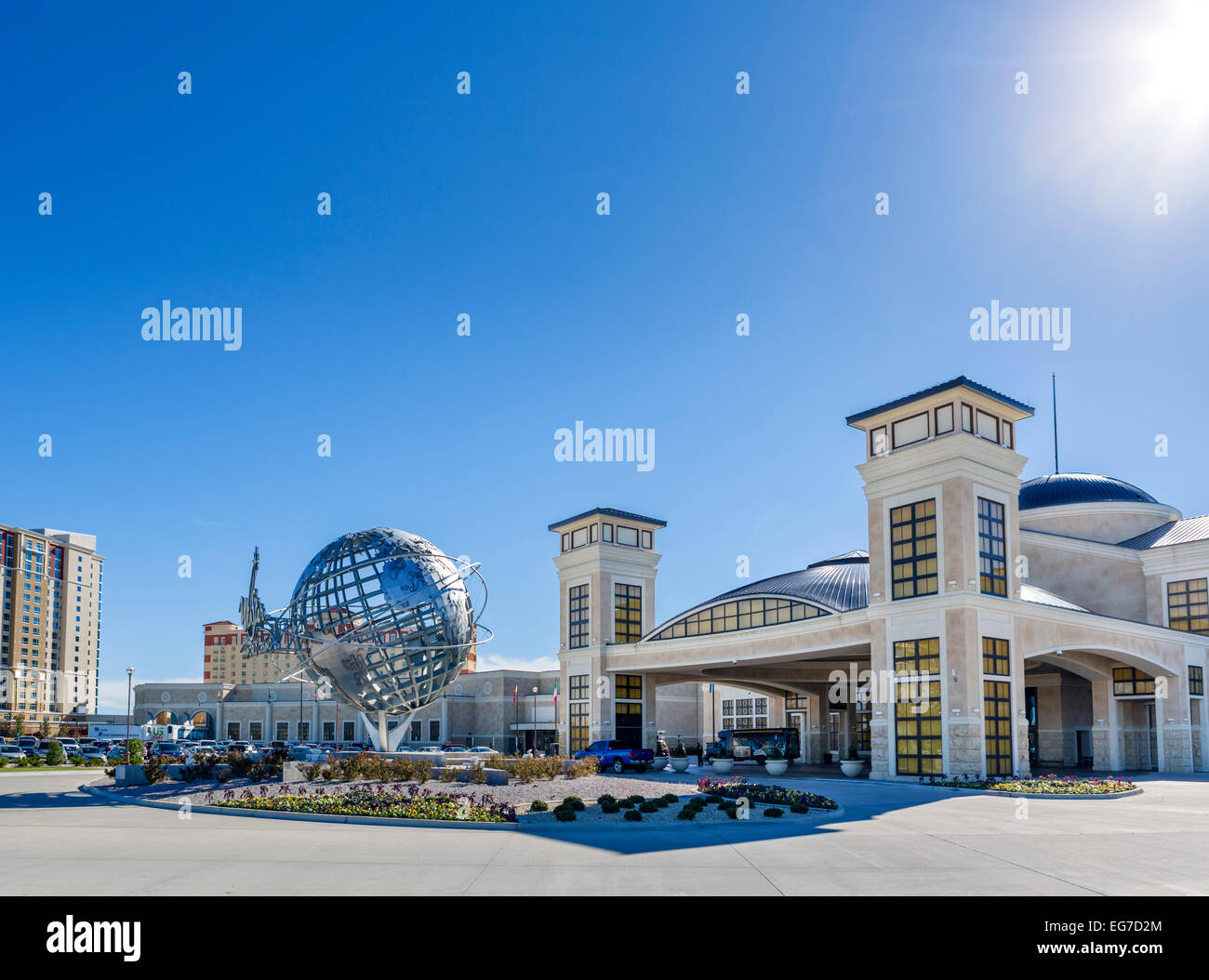 The Winstar World Casino and Resort, the largest casino in the US, Interstate 35, Thackerville, Oklahoma, USA - Stock Image