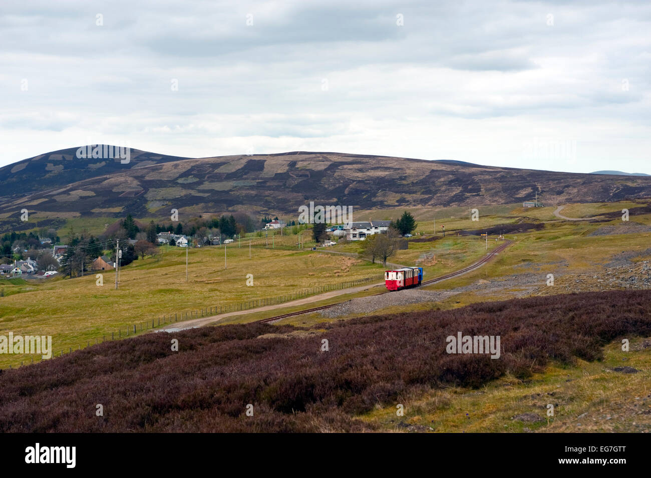 Train on the Wanlockhead and leadhills railway. Leadhills is a village in South Lanarkshire, Scotland, 5¾ miles - Stock Image