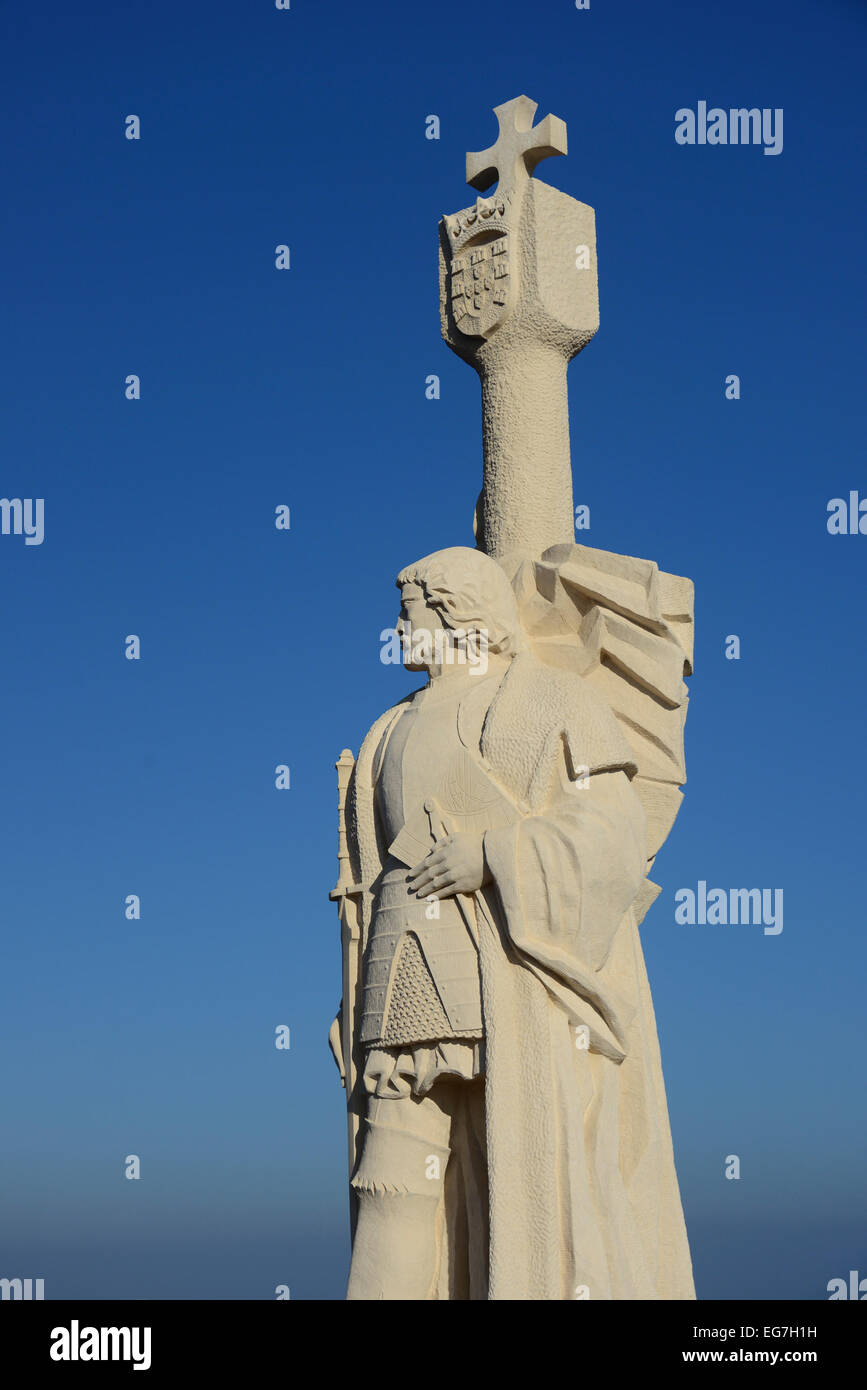 16C Portuguese explorer Juan Cabrillo monument on Point Loma in San Diego Southern California USA - Stock Image