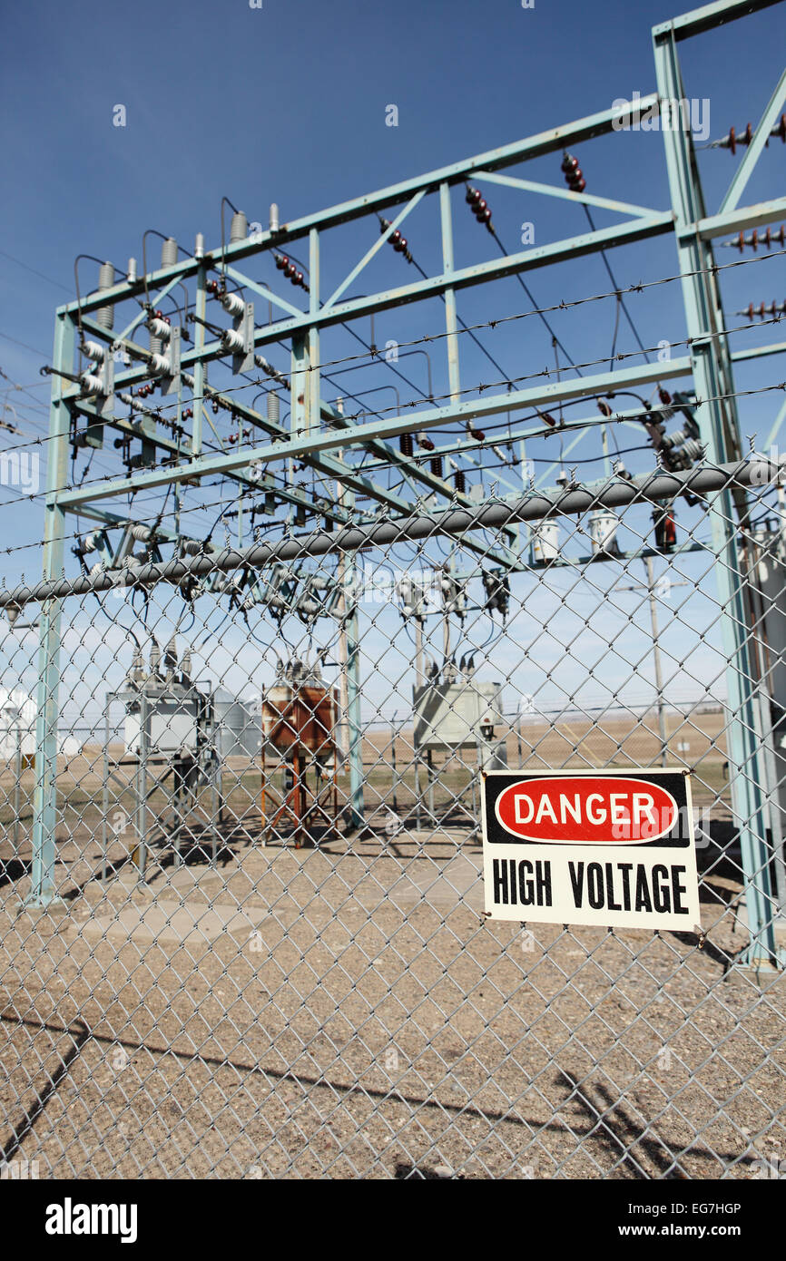 High Voltage Warning Sign On Stock Photos & High Voltage Warning ...